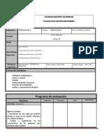 Plan de Evaluacion Matematicas 2AB Bloque 3 Cuarto Periodo