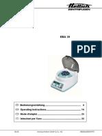 EBA 20 - Instruction Manual
