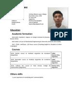 CV Cristian Lopez