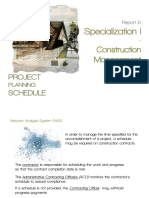 Project Planning Schedule