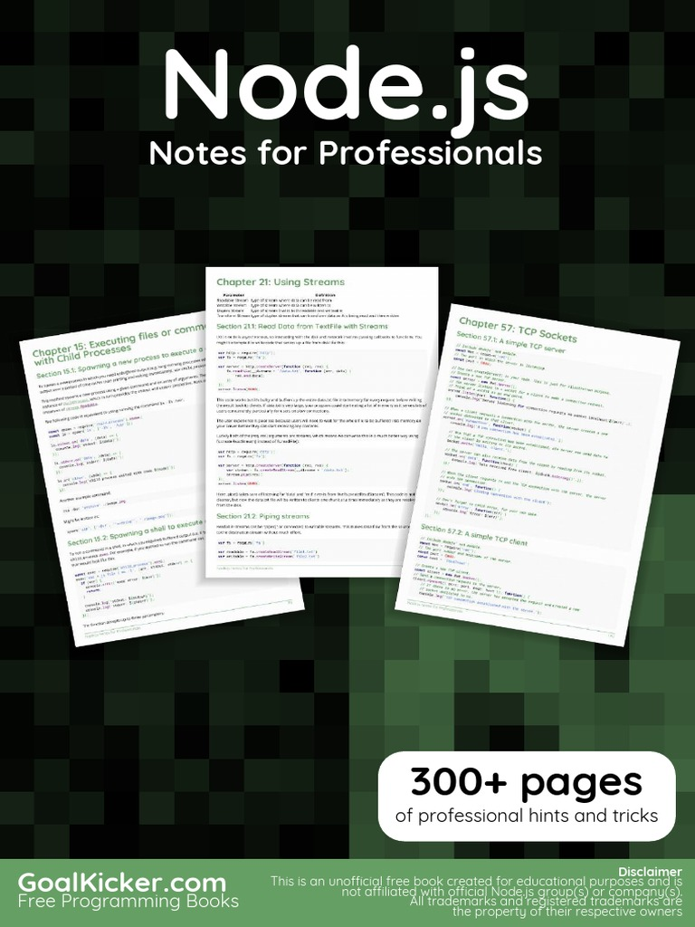 Node js Notes for Professionals   Software Engineering   Computing