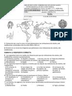 Exámenes Bimestrales Historia