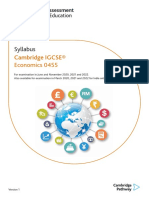 CIE IGCSE Economics Syllabus 2022