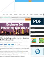 7 Top Quality Engineer Job Interview Questions That You Should Know  Quality Assurance and Quality