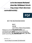49 Ways to Increase Natural Cannabinoids Without Smoking Pot (Including Ways That Decrease Cannabinoids) - Selfhacked