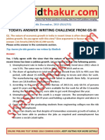 2015 Mains Gs3 Question No.01 Solved