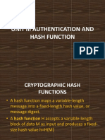 Unit III Authentication and Hash Function