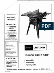 Craftsman Craftsman 10 Inch Table Saw OWNER MANUAL