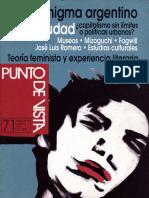 El Enigma Argentino. Revista Punto de Vista.