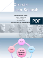 Ciri Ciri Penulisan Sejarah