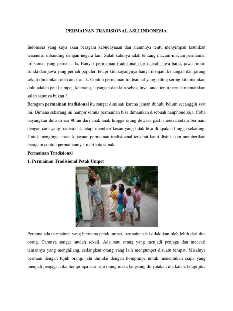 Permainan Tradisional Asli Indonesia