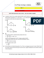 12th IIT 16th May Test Paper 1 Solution
