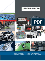 Off Grid Europe Traction Batteries Catalogue