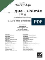 Physique - Chimie Tle S enseignement spécifique Livre du professeur