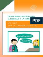 Guía Dificultades Específicas en El Lenguaje y La Comunicación - Modif