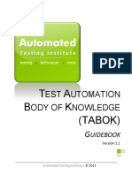 Test Automation Body of Knowledge (TABOK - Automated Testing Institute