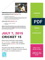 MANUAL CRICKET 15 (WorldWideCricketStudio)