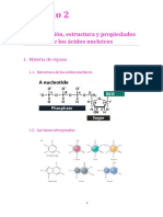 TEMA 2. Composición, Estructura y Propiedades de Los Ácidos Nucleicos