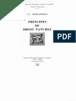 Burlamaqui, Principes Du Droit Naturel