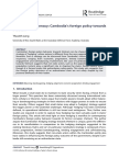 Small State Diplomacy Cambodia's Foreign Policy Towards Vietnam - Therith Leng