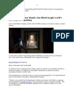 Leonardo´s Salvator Mundi sold