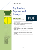 Dry powders, capsules, and lozenges