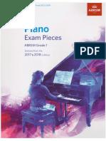 Piano Exam Pieces