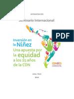 SISTEMATIZACION Seminario Inversion en La Ninez 2014