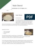 Sada Chawal – Ricette Di Cucina Indiana