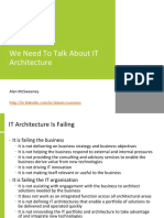 We Need to Talk About IT Architecture