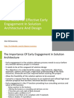 The Need for Effective Early Engagement in Solution Architecture and Design