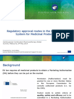 Regulatory Approval Routes in the European System for Medicinal Products