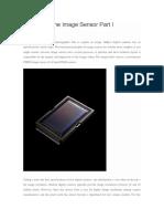 The Image Sensor Part I