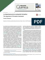 La Importancia de La Evaluacion Formativa. Talanquer 2015