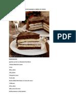 Tort Cu Ciocolata, Mousse de Ananas Si Bezea Cu Cocos