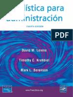 Estadística Para Administración, 4ta Edición - David M. Levine-FREELIBROS.org