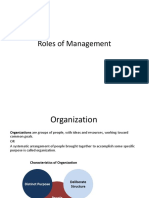 Roles of Management