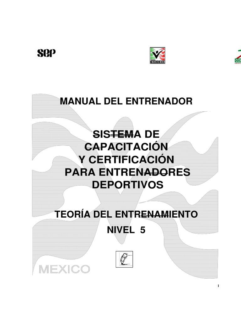 Manual Para El Entrenador de Natación Nivel 5