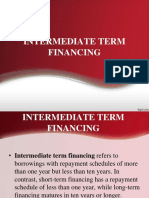 9-Intermediate Term Financing
