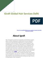 IGraft Global Hair Services Delhi