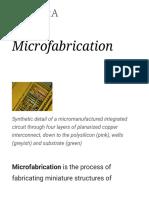 Micro Fabrication
