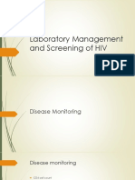 Laboratory Management and Screening of HIV