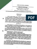 Decizia Nr. 26..06.2016 a Curții de Conturi a Romaniei- Camera de Conturi Sibiu