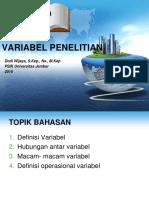 1. VARIABEL PENELITIAN