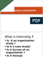 Internship Orientation