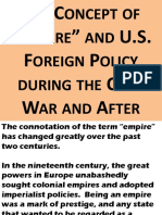 Concept of Empire and US Foreign Policy