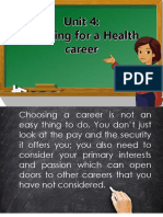 Unit4 Planning for a Health Career