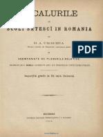 V a Urechia Localurile de Scoli Sătescĭ in Romania Şi Acompaniate de Planurile Relative