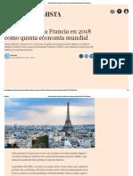India Superará a Francia en 2018 Como Quinta Economía Mundial