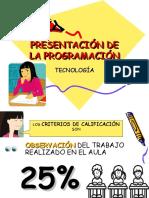 PRESENTACIÓN DE LA PROGRAMACIÓN TECNOLOGIA